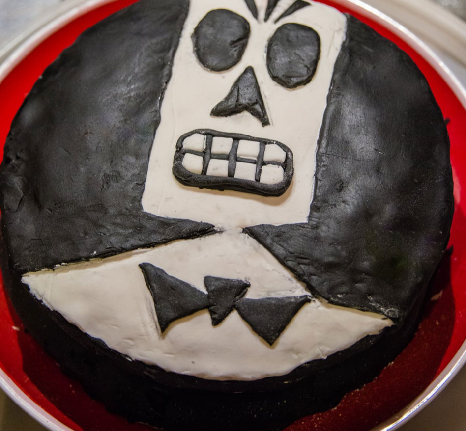 A 'Grim Fandango' birthday cake I received one year, because everyone loves cake and only liars dislike Grim Fandango.