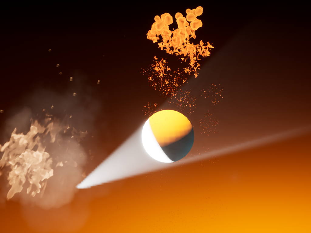 Stylised lighting with particle effects