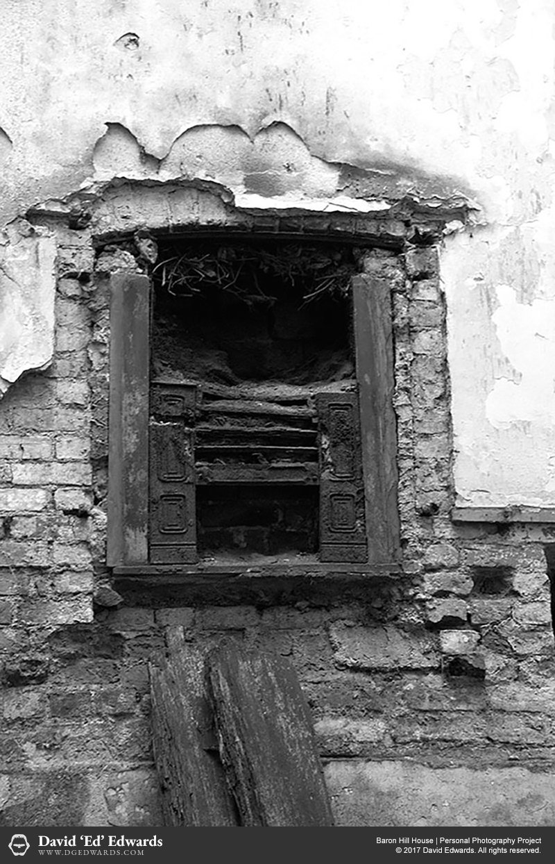 Derelict windows of an abandoned building