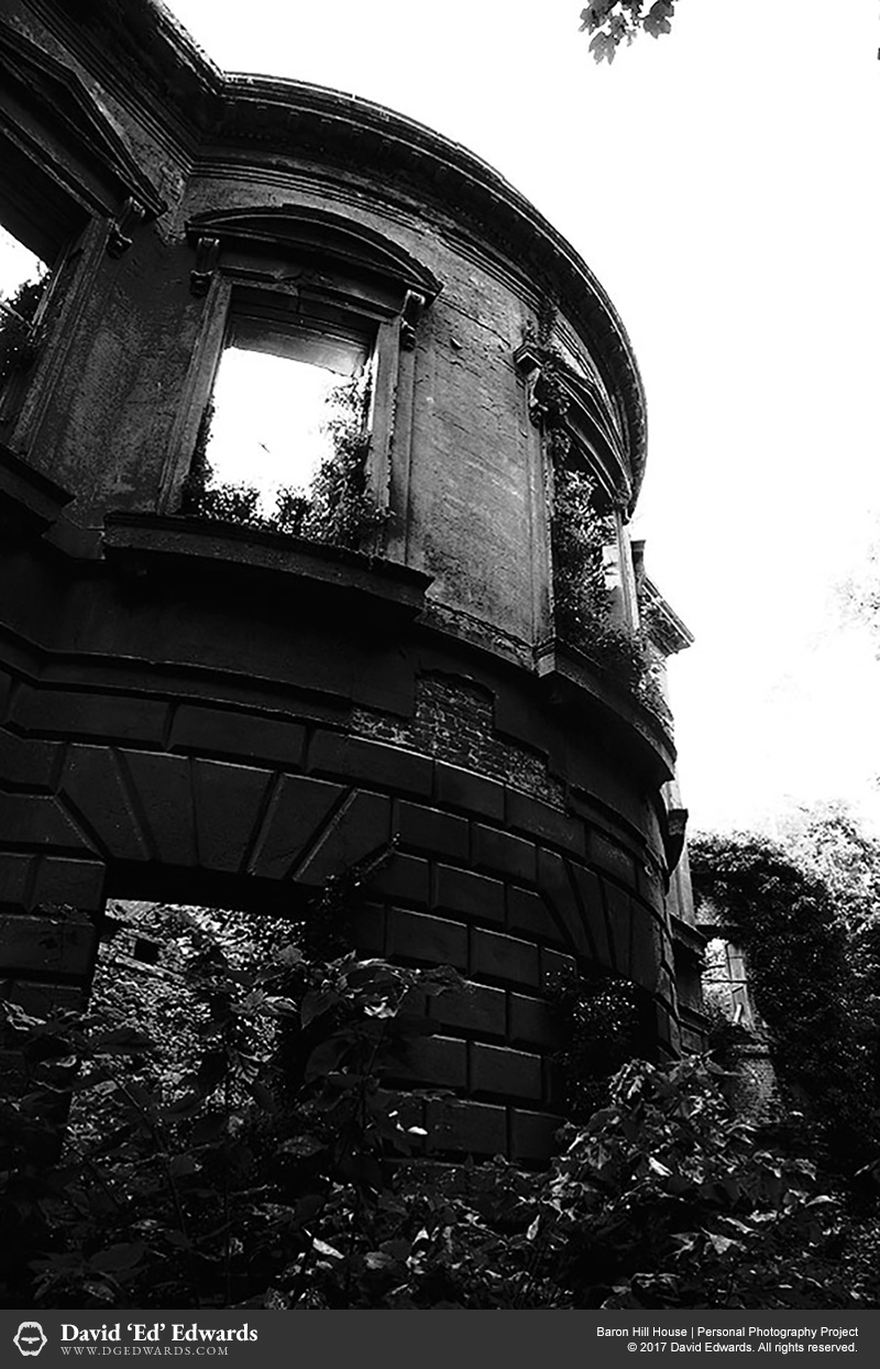 Ruins of an abandoned manor