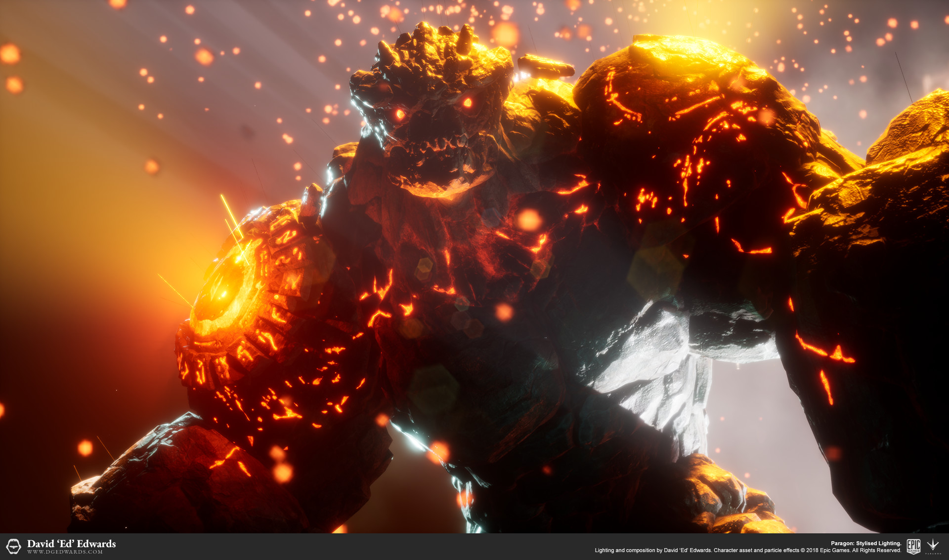 Rampage, 3D character in Unreal Engine 4