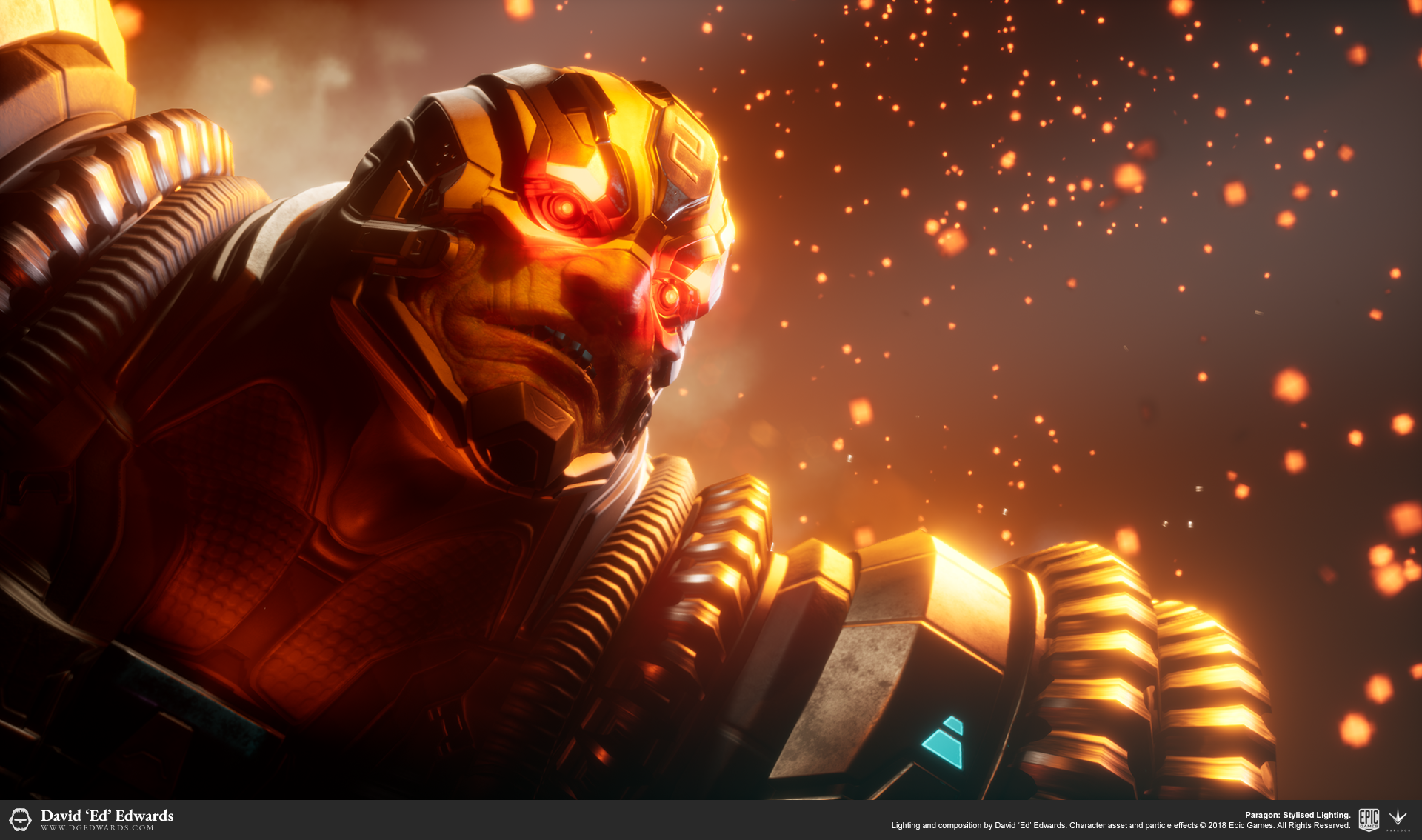 Riktor, 3D character in Unreal Engine 4