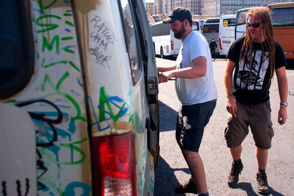 Men in a van