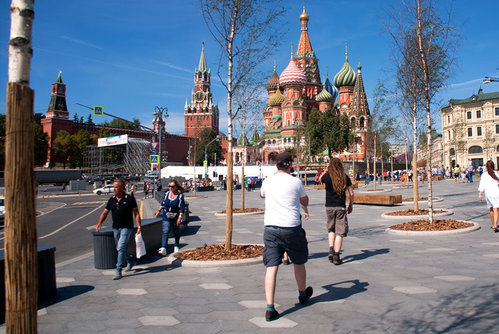 On our way to Red Square, Moscow