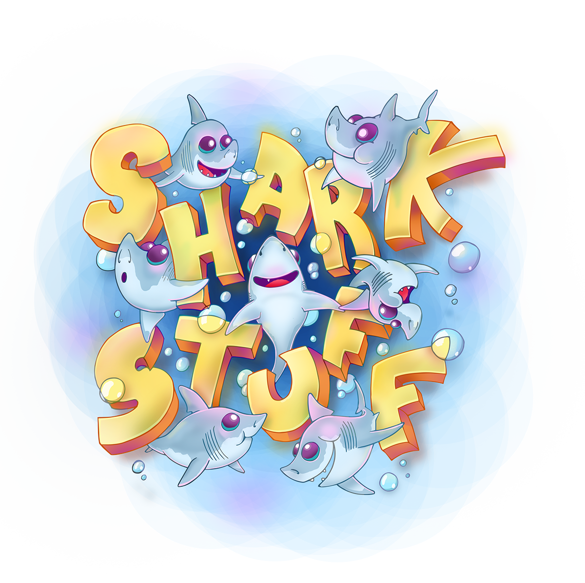 Porbeagle shark cartoons