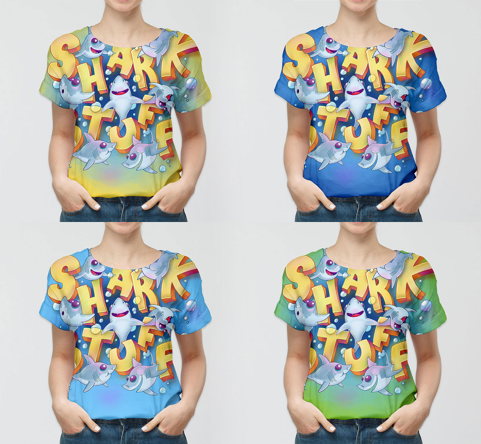 © SharkStuff - Full body T-shirt drafts