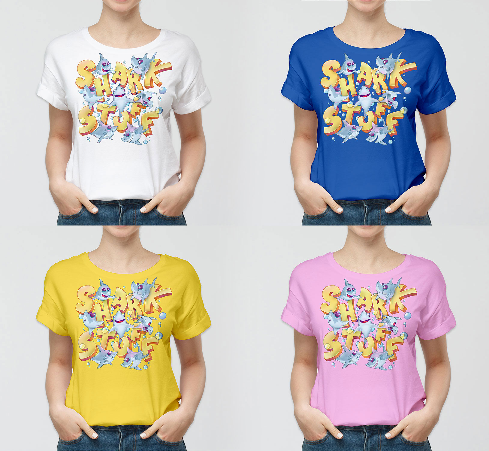 © SharkStuff – Scaled T-shirt drafts