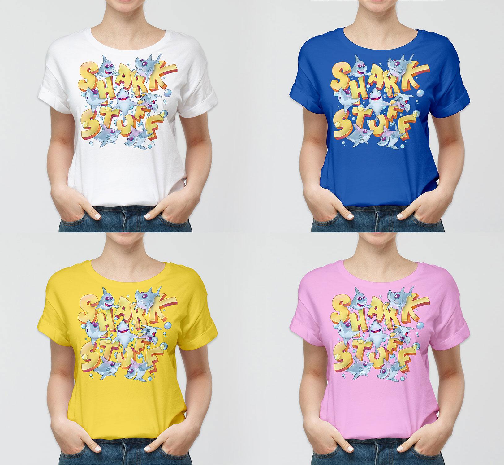 © SharkStuff – Scaled T-shirt drafts