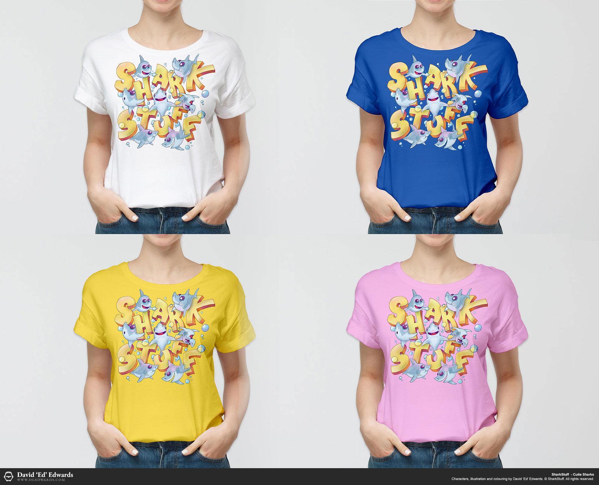 Shark Cartoon T-Shirt