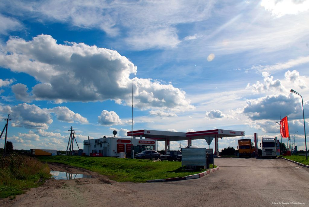 A petrol station in Siberia